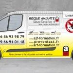 Publicité formation risque amiante Verso par CoMpoZ-it