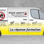 Publicité formation risque amiante Recto par CoMpoZ-it